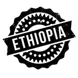 Grunge del caucho del sello de Etiopía Fotografía de archivo