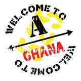 Grunge del caucho del sello de Ghana Fotografía de archivo libre de regalías