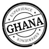 Grunge del caucho del sello de Ghana Fotos de archivo