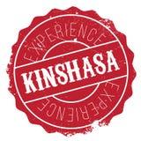 Grunge del caucho del sello de Kinshasa Foto de archivo