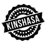 Grunge del caucho del sello de Kinshasa Fotos de archivo libres de regalías
