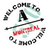 Grunge del caucho del sello de Montreal Imagen de archivo libre de regalías