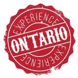 Grunge del caucho del sello de Ontario Foto de archivo libre de regalías