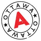 Grunge del caucho del sello de Ottawa Foto de archivo