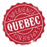 Grunge del caucho del sello de Quebec Imagen de archivo
