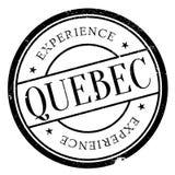 Grunge del caucho del sello de Quebec Imágenes de archivo libres de regalías