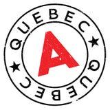 Grunge del caucho del sello de Quebec Imagenes de archivo