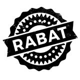 Grunge del caucho del sello de Rabat Imagen de archivo
