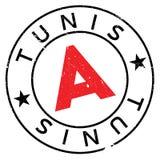 Grunge del caucho del sello de Túnez Fotografía de archivo libre de regalías