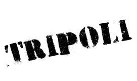 Grunge del caucho del sello de Trípoli Imágenes de archivo libres de regalías