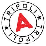 Grunge del caucho del sello de Trípoli Fotografía de archivo