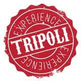 Grunge del caucho del sello de Trípoli Imagen de archivo