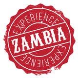 Grunge del caucho del sello de Zambia Foto de archivo libre de regalías