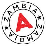 Grunge del caucho del sello de Zambia Imágenes de archivo libres de regalías