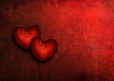 Grunge del corazón de la tarjeta del día de San Valentín Imágenes de archivo libres de regalías