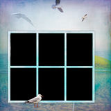 Grunge del estilo del fondo de los marcos de la foto Imagen de archivo libre de regalías