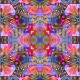 Grunge del fractal del batik realista Fotos de archivo