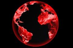 Grunge del globo del mundo Imagen de archivo