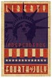 Grunge del logotipo del sello del Día de la Independencia imagen de archivo