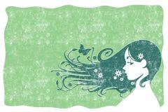 Grunge del pelo de Eco Imagen de archivo libre de regalías
