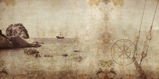 Grunge 2 del pirata Fotografía de archivo libre de regalías