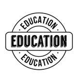 Grunge del sello de goma de la educación Imagen de archivo libre de regalías