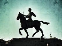 Grunge del vintage de la estatua de Alejandro Fotos de archivo libres de regalías