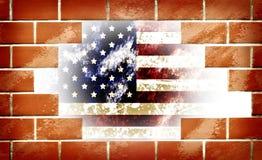 Grunge dell'america il 4 luglio Fotografie Stock