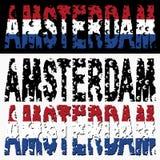 Grunge dell'euro del testo di Amsterdam Fotografie Stock Libere da Diritti