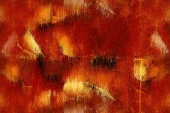Grunge dell'oro e di colore rosso Fotografia Stock