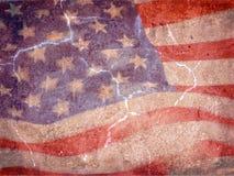 Grunge della bandiera americana Fotografie Stock Libere da Diritti