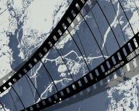 Grunge della bobina di pellicola Fotografie Stock