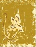 Grunge della farfalla Fotografia Stock