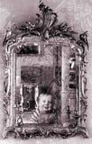 Grunge dello specchio Immagini Stock