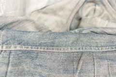 Grunge denim or blue jeans Royalty Free Stock Images