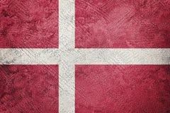 Grunge Denmark flag. Denmark flag with grunge texture. Grunge texture flag stock photos