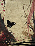 Grunge design. With floral ornaments and butterfly Royalty Free Stock Photos