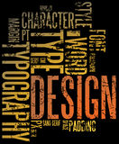 Grunge design background. Grunge design and typography background royalty free illustration