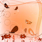 Grunge design with butterflies Stock Image