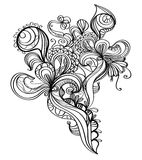 Grunge design element. Decorative hand drawn black and white design element Stock Images