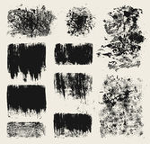 Grunge design elements. Set of grunge wood imprints and scratched elements Stock Photos