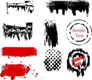 Grunge Design Elements. Vectored set of grungy graphic design elements Royalty Free Stock Photos