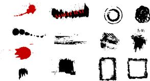 Grunge Design Elements. Vectored set of grungy graphic design elements Royalty Free Stock Photography