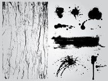 Grunge design elements. Black and white grunge design elements Stock Illustration