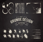 Grunge Design Elements Set Stock Images