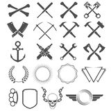 Grunge design elements. Tools, shapes, signs and symbols Royalty Free Stock Images