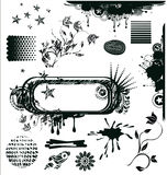 Grunge design elements in vector Stock Photo