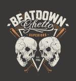Grunge Design with Skulls Royalty Free Stock Image