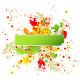 Grunge Design Template with Paint Splatters Stock Images