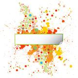 Grunge Design Template with Paint Splatters Royalty Free Stock Photo